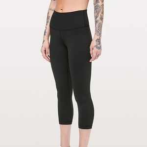 Lululemon Wunder Under Crop, 4, Black